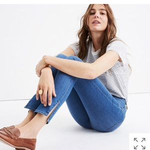 Madewell High Rise Skinny Jeans ankle slit Sz 26